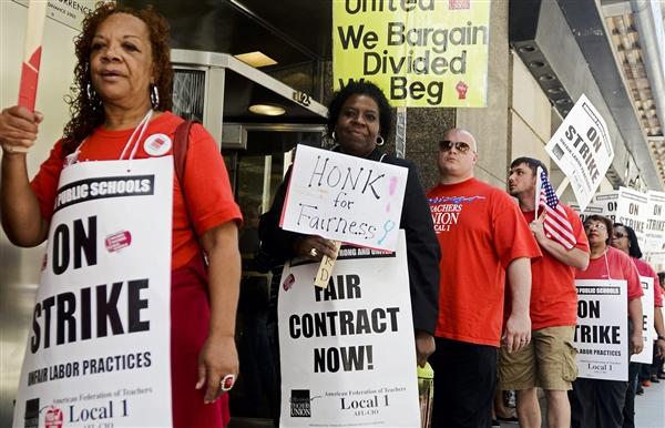 Chicago teachers strike. Image courtesy of U.S. News
